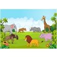 Collection animal africa in the jungle vector image