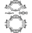 antique vintage frames vector image
