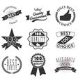 Quality emblems and labels vector image