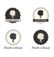 African American woman logo in frame with text vector image