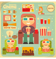 Cinema Retro Poster vector image