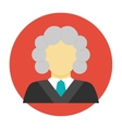Judge avatar flat icon vector image