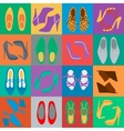 mens and womens shoes vector image