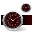 Red Clock Icons vector image