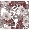 Seamless sepia floral pattern vector image
