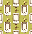 Sketch urinal in vintage style vector image