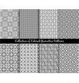 ethnic decorative oriental patterns set vector image