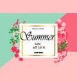 summer sale banner template background vector image