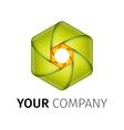 Abstract colorful camera shutter logo vector image