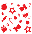 christmas pattern with gifts candy canes angels an vector image