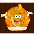 potato chips mascot vector image