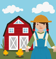Farm nature and lifestyle vector image