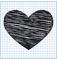 Heart sign with pen effect on paper vector image