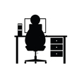 computer with man vector image