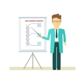 doctor with presentation at flipchart vector image