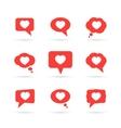 Hearts in speech bubbles vector image