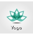 lotus Yoga vector image