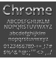 Metal font vector image