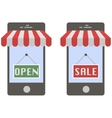 Mobile buying concept vector image