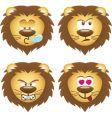 Set of lion face vector image