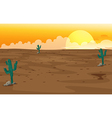 A desert vector image vector image