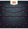 Abstract creative christmas garland light isolated vector image