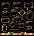 golden ornate frames in vintage style vector image