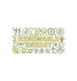 colorful renewable energy banner vector image