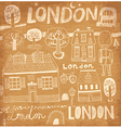 London sketch elements vector image vector image
