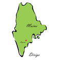 State of Maine vector image