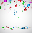 Festive background with confetti vector image