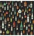 Bottles seamless pattern vector image