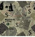 Dollar collage grunge vector image