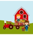 fresh farm products vector image