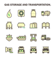 Gas transportation icon vector image