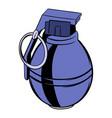 grenade icon cartoon vector image