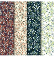 Set of four seamless patterns with spots vector image