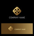 square chain circle gold logo vector image