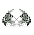 Wreath and Racing flags vector image