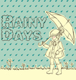Rainy days vector image