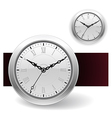White Clock icons vector image vector image