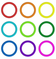Nine colorful rings vector image