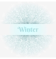 cold winter background vector image vector image