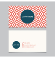 business card pattern red 10 vector image vector image