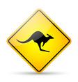 Kangaroo road sign vector image vector image