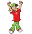 Happy Cheering Boy vector image vector image