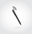 Pen with wi fi vector image vector image
