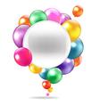 Balloons Speech Bubble vector image