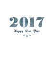 Blue New Year background vector image