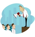 Businessman Boss Hold Megaphone vector image